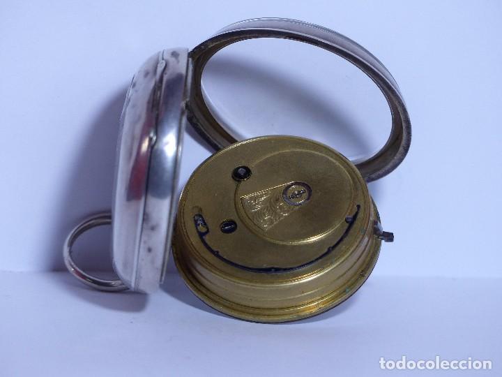 Relojes de bolsillo: ,,,LLAVERO REVERSING - PINION,,,PLATA SELLADA DOS TAPAS,,. ( B - 25 ) - Foto 4 - 96651835