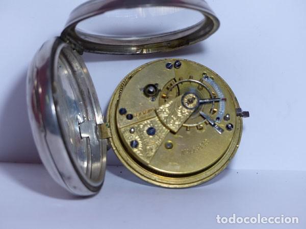 Relojes de bolsillo: ,,,LLAVERO REVERSING - PINION,,,PLATA SELLADA DOS TAPAS,,. ( B - 25 ) - Foto 5 - 96651835