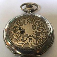Relojes de bolsillo: RELOJO DE BOLSILLO DE PLATA. SILVER FOB WATCH.. Lote 96692595