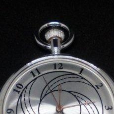 Relojes de bolsillo: RELOJ BOLSILLO CUERDA BAÑO DE PLATA FUNCIONA PERFECTAMENTE. Lote 97064683