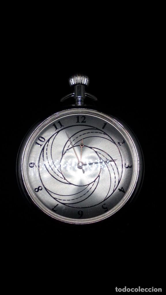 Relojes de bolsillo: RELOJ BOLSILLO CUERDA BAÑO DE PLATA FUNCIONA PERFECTAMENTE - Foto 2 - 97064683