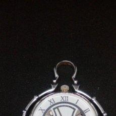 Relojes de bolsillo: RELOJ BOLSILLO CUERDA BAÑO DE PLATA FUNCIONA PERFECTAMENTE. Lote 97064783