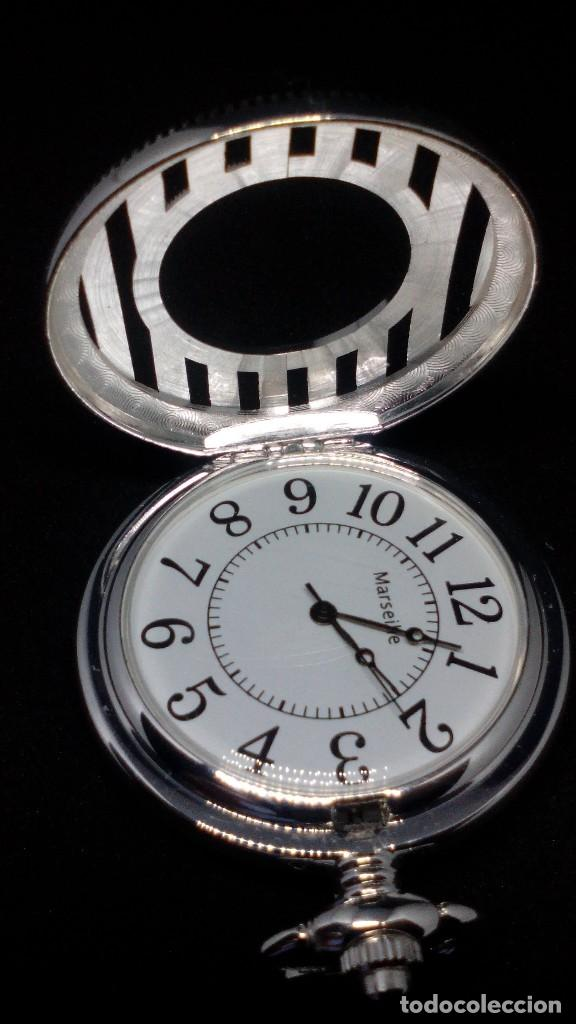 Relojes de bolsillo: RELOJ BOLSILLO CUERDA BAÑO DE PLATA FUNCIONA PERFECTAMENTE - Foto 3 - 97112059