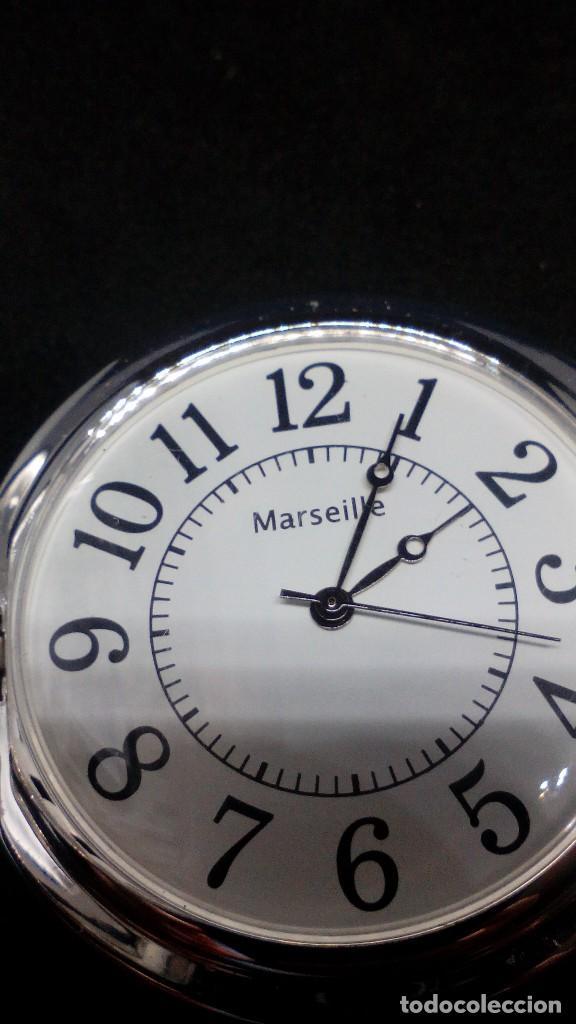 Relojes de bolsillo: RELOJ BOLSILLO CUERDA BAÑO DE PLATA FUNCIONA PERFECTAMENTE - Foto 4 - 97112059