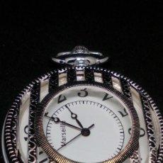 Relojes de bolsillo: RELOJ BOLSILLO CUERDA BAÑO DE PLATA FUNCIONA PERFECTAMENTE. Lote 97112059