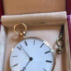 Relojes de bolsillo: ESPECTACULAR RELOJ DE BOLSILLO, ORO, IMPRESIONANTE SONERIA. Lote 97584071