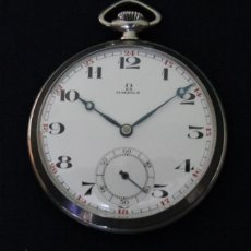 Relojes de bolsillo: RELOJ DE BOLSILLO ANTIGUO DE PLATEADOS DE ORIGEN SUIZO CON CUERDA MANUAL Y FUNCIONANDO FINALES DE 20. Lote 98005303