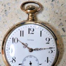 Relojes de bolsillo: NIVEA RELOJ BOLSILLO WISS MADE MEDALLAS DE ORO 1.900 ¡¡¡VER VÍDEOS!!!. Lote 98029247