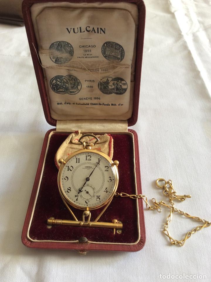 RELOJ BOLSILLO VULCAIN ORO 18 KL ART DECO (Relojes - Bolsillo Carga Manual)
