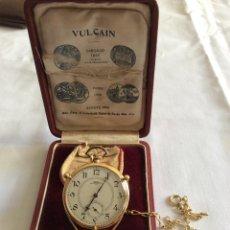 Relojes de bolsillo: RELOJ BOLSILLO VULCAIN ORO 18 KL ART DECO. Lote 98066675