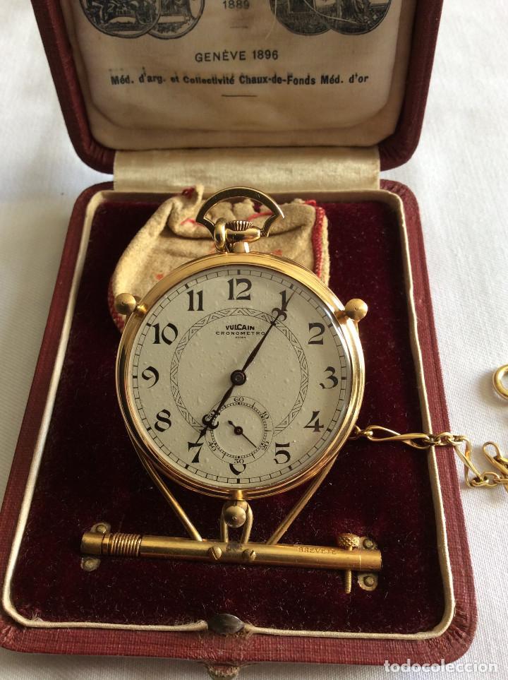 Relojes de bolsillo: RELOJ BOLSILLO VULCAIN ORO 18 KL ART DECO - Foto 2 - 98066675