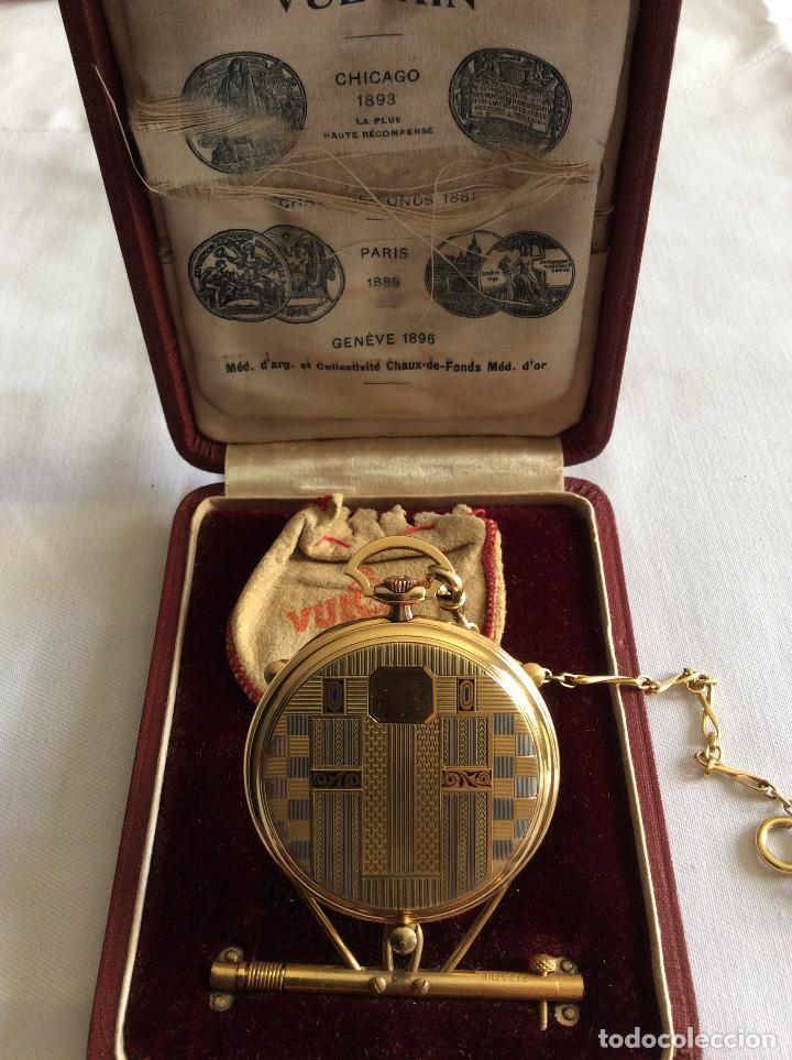 Relojes de bolsillo: RELOJ BOLSILLO VULCAIN ORO 18 KL ART DECO - Foto 3 - 98066675