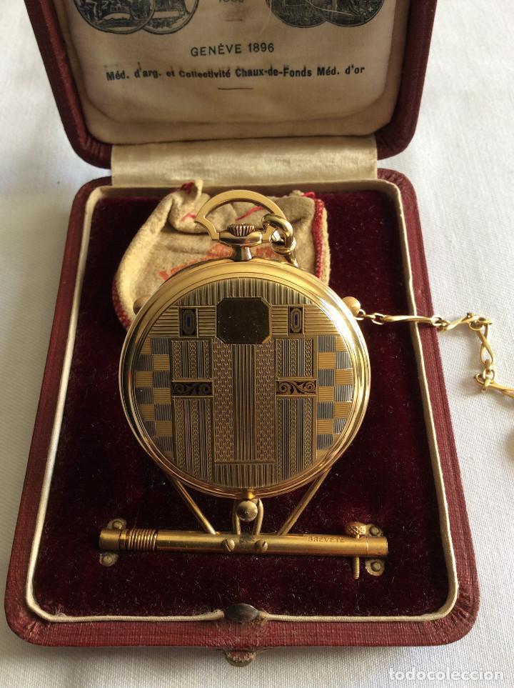 Relojes de bolsillo: RELOJ BOLSILLO VULCAIN ORO 18 KL ART DECO - Foto 4 - 98066675