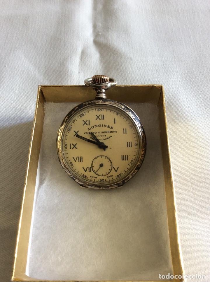 RELOJ BOLSILLO LONGINES ART DECO (Relojes - Bolsillo Carga Manual)