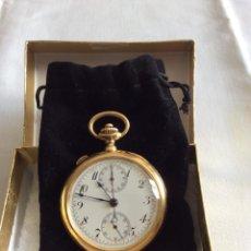 Relojes de bolsillo: CRONOMETRO SUIZO RELOJ DE BOLSILLO EN ORO 18KL. Lote 98069423