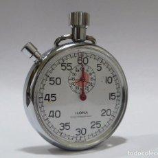Relojes de bolsillo: CRONÓMETRO METAL CROMADO MARCA ILONA FUNCIONANDO. Lote 98070275