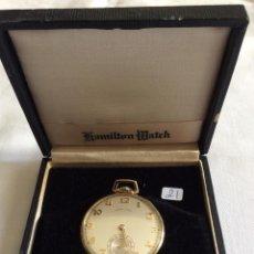 Relojes de bolsillo: RELOJ DE BOLSILLO HAMILTON ORO 18 KL. Lote 98070427