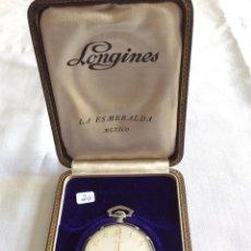 Relojes de bolsillo: RELOJ DE BOLSILLO LONGINES EN ORO BLANCO. Lote 175691257