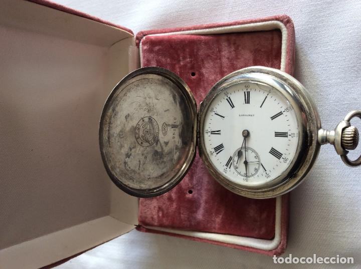 RELOJ DE BOLSILLO LONGINES PLATA 3 TAPAS ART DECO (Relojes - Bolsillo Carga Manual)