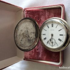 Relojes de bolsillo: RELOJ DE BOLSILLO LONGINES PLATA 3 TAPAS ART DECO. Lote 98071983