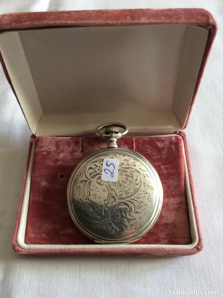 Relojes de bolsillo: RELOJ DE BOLSILLO LONGINES PLATA 3 TAPAS ART DECO - Foto 3 - 98071983