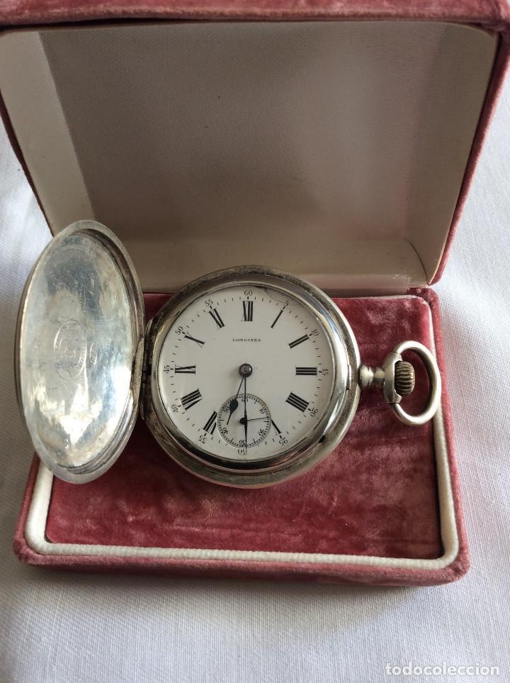 Relojes de bolsillo: RELOJ DE BOLSILLO LONGINES PLATA 3 TAPAS ART DECO - Foto 4 - 98071983