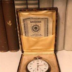 Relojes de bolsillo: RELOJ DE BOLSILLO DE 1935 DE PLATA 900 CON ALGO DE ORO ROSA , TERCER REICH, HITLER, NAZI.. Lote 177833877