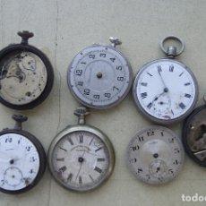 Relojes de bolsillo: LOTE DE 7 RELOJES DE BOLSILLO PARA PIEZAS HAY UN 8 DIAS PW10. Lote 99202931