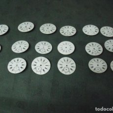 Relojes de bolsillo: 17 ESFERAS ANTIGUAS EN PORCELANA EN MUY BUEN ESTADO- LOTE 68. Lote 99237939