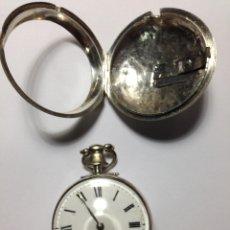 Relojes de bolsillo: RELOJ DE BOLSILLO CATALINO CIRCA 1820 CHICHONERA PLATA FUNCIONA. Lote 100494727