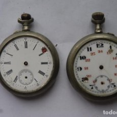 Relojes de bolsillo: LOTE DE 2 RELOJES DE BOLSILLO PARA PIEZAS. Lote 100517983