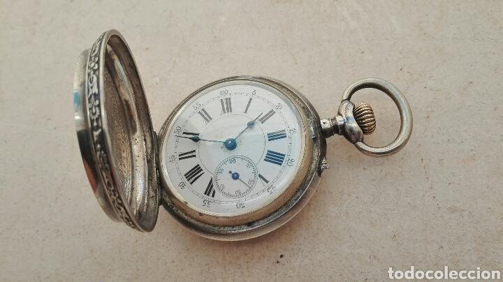 Relojes de bolsillo: Reloj de Bolsillo Plata Ancre Remontoir 15 Rubis - Juan Janini Villanueva y Geltrú - - Foto 5 - 91852860