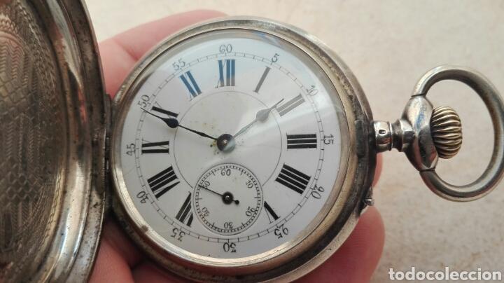 Relojes de bolsillo: Reloj de Bolsillo Plata Ancre Remontoir 15 Rubis - Juan Janini Villanueva y Geltrú - - Foto 6 - 91852860