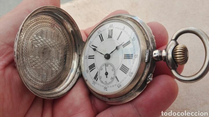 Relojes de bolsillo: Reloj de Bolsillo Plata Ancre Remontoir 15 Rubis - Juan Janini Villanueva y Geltrú - - Foto 7 - 91852860