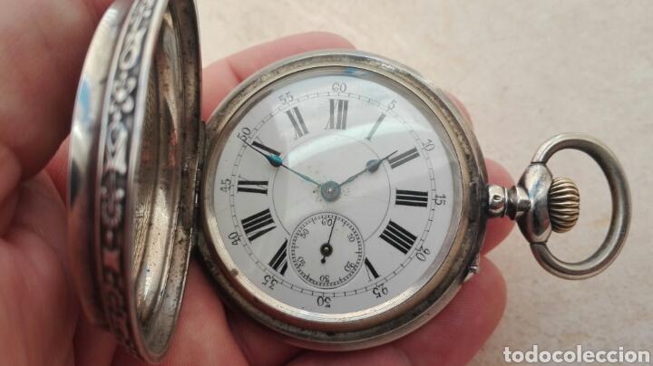 Relojes de bolsillo: Reloj de Bolsillo Plata Ancre Remontoir 15 Rubis - Juan Janini Villanueva y Geltrú - - Foto 8 - 91852860