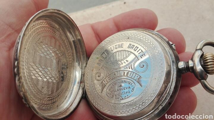 Relojes de bolsillo: Reloj de Bolsillo Plata Ancre Remontoir 15 Rubis - Juan Janini Villanueva y Geltrú - - Foto 11 - 91852860