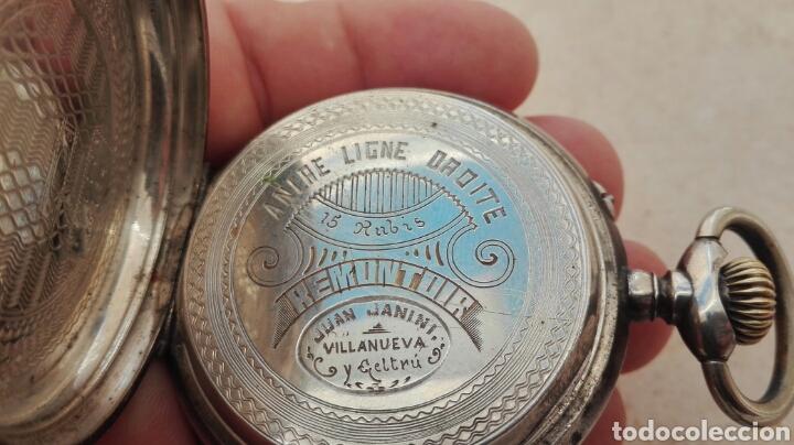 Relojes de bolsillo: Reloj de Bolsillo Plata Ancre Remontoir 15 Rubis - Juan Janini Villanueva y Geltrú - - Foto 12 - 91852860