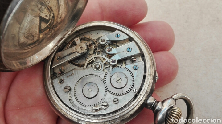 Relojes de bolsillo: Reloj de Bolsillo Plata Ancre Remontoir 15 Rubis - Juan Janini Villanueva y Geltrú - - Foto 15 - 91852860