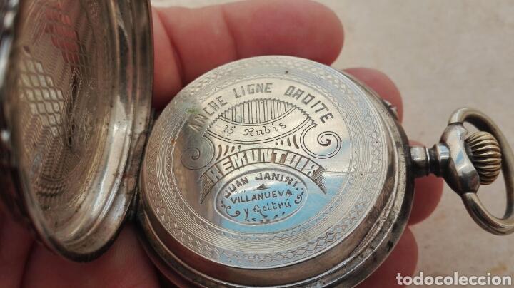 Relojes de bolsillo: Reloj de Bolsillo Plata Ancre Remontoir 15 Rubis - Juan Janini Villanueva y Geltrú - - Foto 16 - 91852860