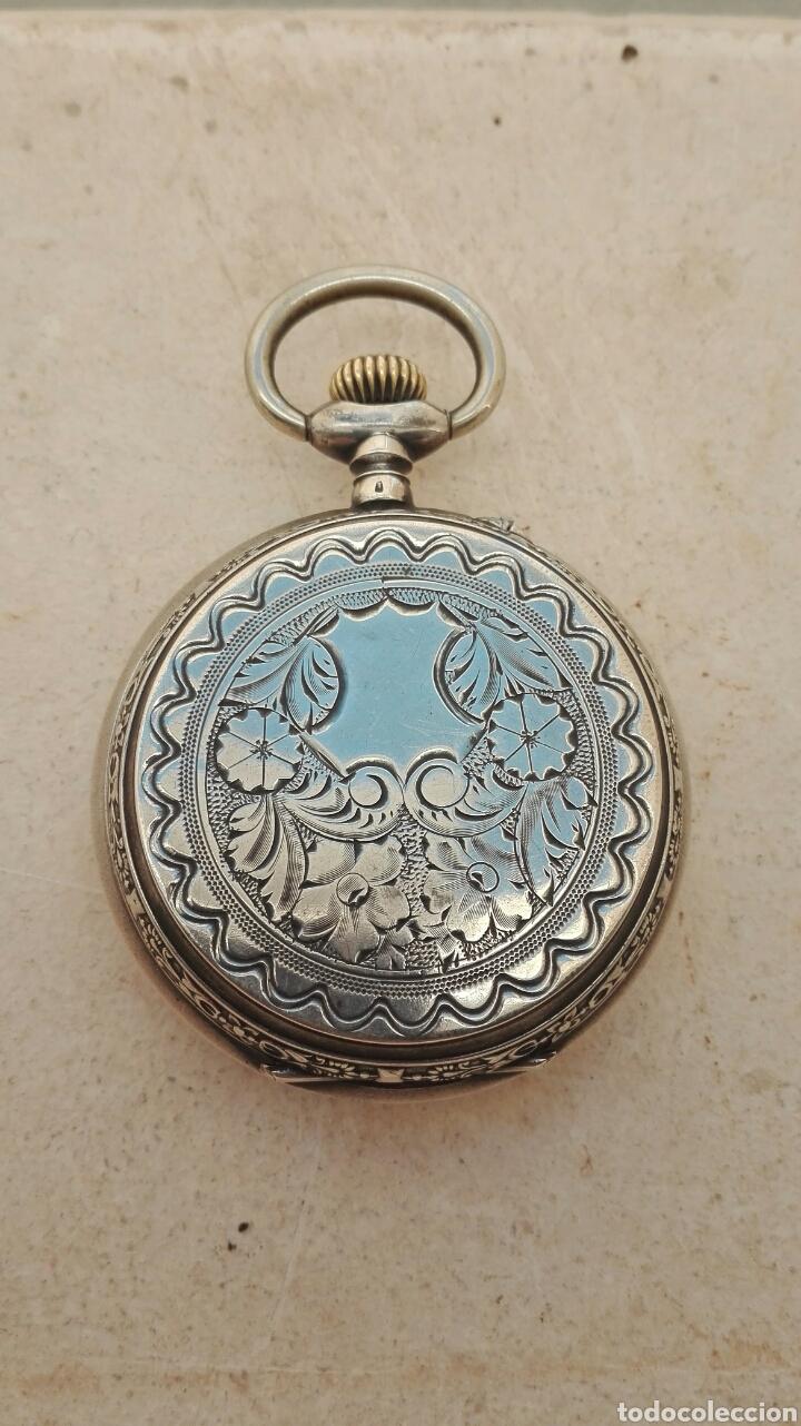 Relojes de bolsillo: Reloj de Bolsillo Plata Ancre Remontoir 15 Rubis - Juan Janini Villanueva y Geltrú - - Foto 17 - 91852860