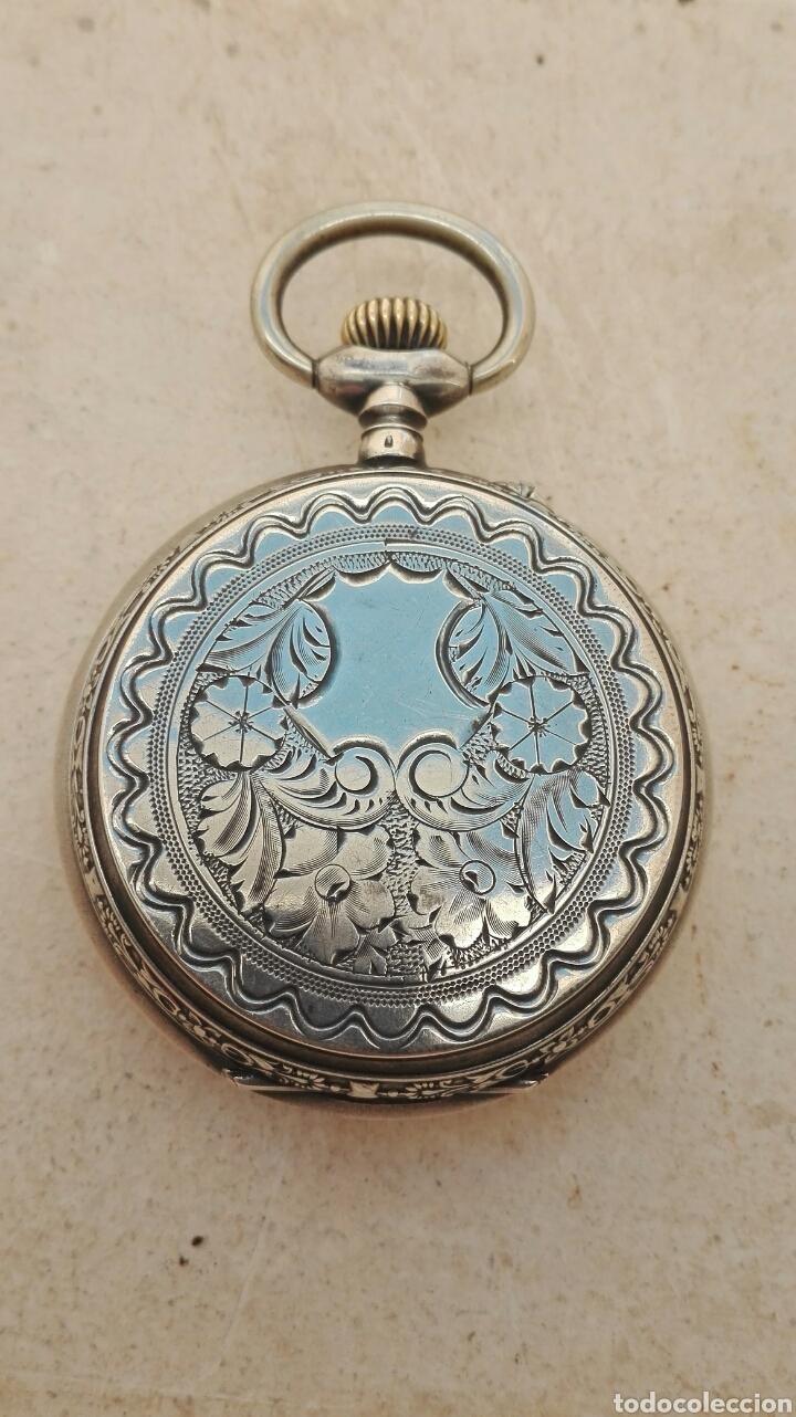 Relojes de bolsillo: Reloj de Bolsillo Plata Ancre Remontoir 15 Rubis - Juan Janini Villanueva y Geltrú - - Foto 18 - 91852860