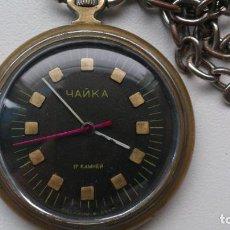 Relojes de bolsillo: RELOJ CHAIKA EPOCA SOVIETICA . Lote 101241971