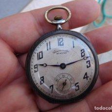 Relojes de bolsillo: RELOJ DE BOLSILLO EN PLATA NIELADA CHRONOMETRE AURORE 1920 APROX.. Lote 101304787