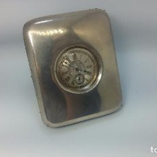 Relojes de bolsillo: RELOJ DE BOLSILLO, POSIBLE ORIGEN FERROVIARIO, DE PLATA CON SU RELOJERA DE VIAJE, ENTRE 1870-1880.. Lote 101333735