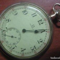 Relojes de bolsillo: MAGNIFICO RELOJ DE BOLSILLO SUIZO MARCA OMEGA CON CAJA CHAPADA EN ORO DE 14K, FUNCIONANDO BIEN. Lote 101393823