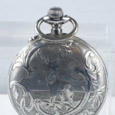 Relojes de bolsillo: RELOJ DE BOLSILLO ROSKOPF EN PLATA PUNZONADA CON MECANISMO DE RUEDA EN FUNCIONAMIENTO. Lote 102075503