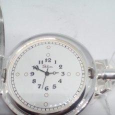 Relojes de bolsillo: RELOJ DE BOLSILLO SILVER BAÑO DE PLATA FUNCIONANDO. Lote 102149451
