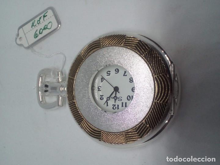 Relojes de bolsillo: RELOJ DE BOLSILLO SILVER BAÑO DE PLATA FUNCIONANDO - Foto 2 - 102149451