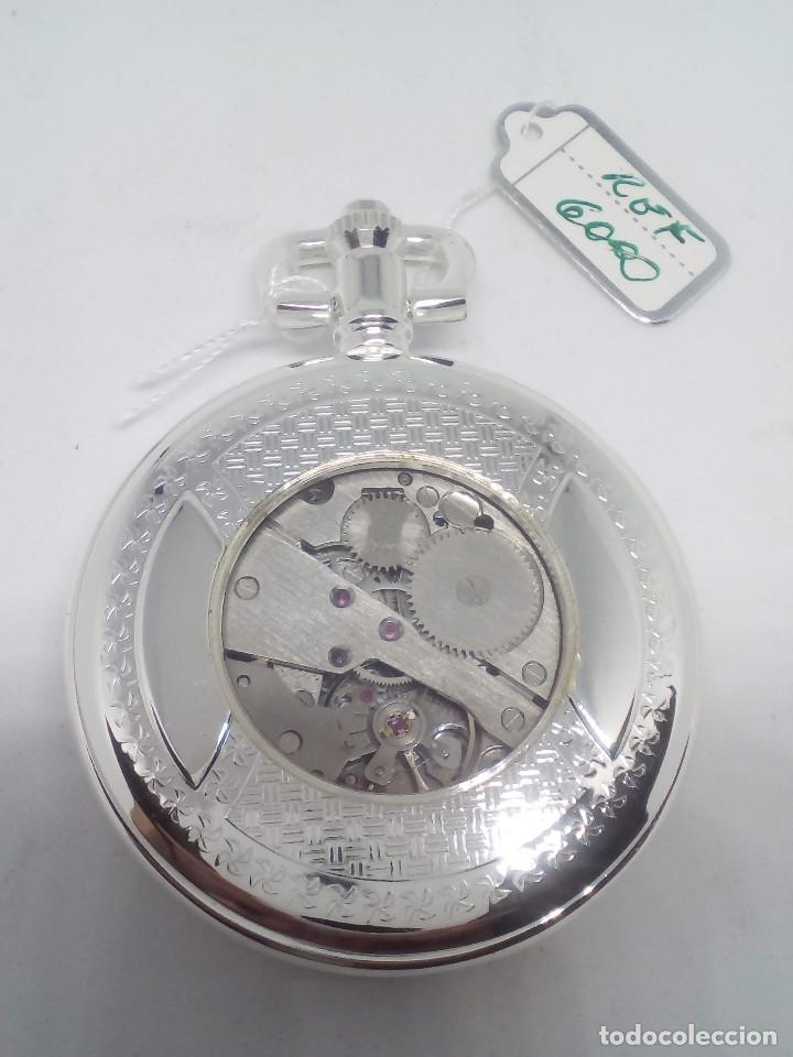 Relojes de bolsillo: RELOJ DE BOLSILLO SILVER BAÑO DE PLATA FUNCIONANDO - Foto 3 - 102149451