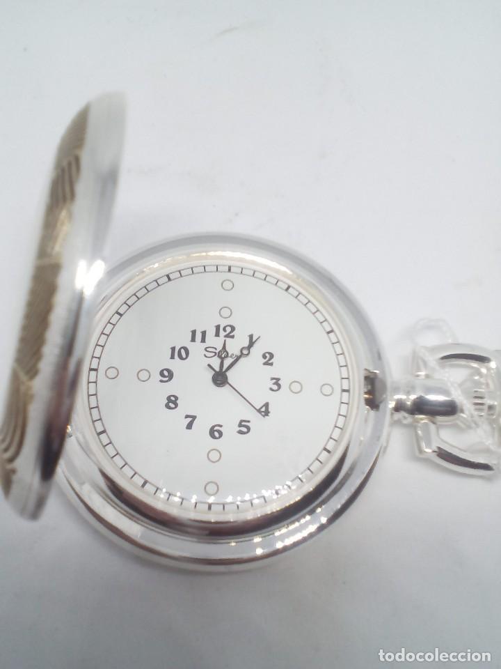 Relojes de bolsillo: RELOJ DE BOLSILLO SILVER BAÑO DE PLATA FUNCIONANDO - Foto 4 - 102149451